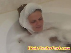 Soapy Blowjob At The Bathroom