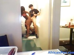Amateur Ebony Girl With Banging Body Fucked In The Bathroom