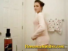 Hot Teen Strips And Masturbates In The Bathroom
