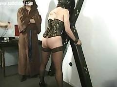 Master Teacher Spanks Beautiful Horny Slave With Nice Butt..