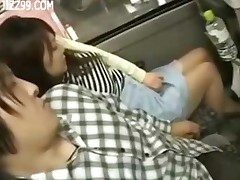 Cute Tourists Fucked By Bus Geek 002