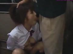 Schoolgirl Sucking Cock On Her Knees Fucked From Behind..