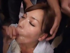Office Lady Rapped Getting Her Mouth Fucked Facials Masturbating..