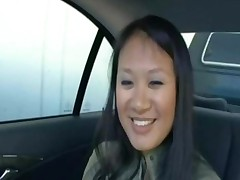 Asian Riding In My Car And Getting Fucked