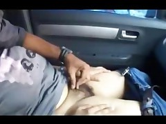Indian Bengali Girlfriend Exposing Tits And Pussy In Car