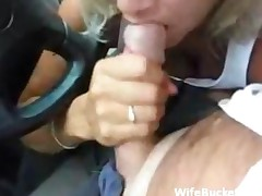 Hot Car Blowjob
