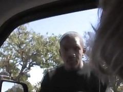 Joey Lynn In Some In Car Interracial Action
