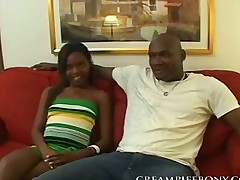 Ebony babe Fucked by a Huge Black Cock