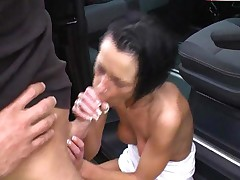 Cumshot In A Car