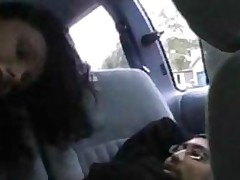 Brunette Slut Sucking Dick In The Car