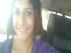 Indian North Teen Exposing Boobs And Tight Pussy In Car