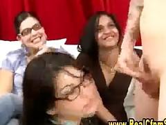 Cfnm Jury Girl Gives Blowjob