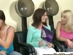 Real Cfnm Babes Give Guy A Blowjob In Hairdressers