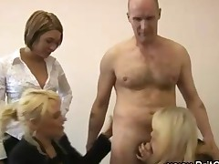 Cfnm Guy Sucked By 3 Babes Testing Condoms