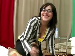 Cfnm Babe Gives Guy A Blowjob While Her Friends Watch