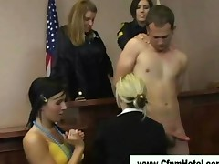 Cfnm Courtroom Babes Jerk Off Guy