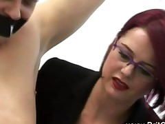 Dominant Ladies Wank Chained Cfnm Guy To Teach Newbies
