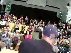 Nasty Cfnm Bitch Gets A Facial