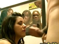 Dirty Cfnm Slut Gets A Facial