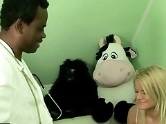 Cute Teen Fucking With Old Black Doctor