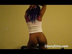 Ebony Emo With Perfect Booty