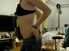 Sexy Amateur Teen Emo Girl Strips On Her Webcam