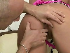 Older Guy Toying And Fisting Young Pussy