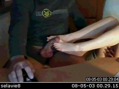 Amateur Webcam Footjob