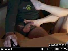 Amateur Webcam Footjob