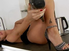 Beauty Riding Cock And Giving Footjob