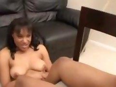 Ebony Footjob 1