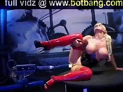 Horny Girl Takes Fucking Machine