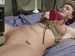 Cute Teen Babe Tied From Bed Is Penetrated By Tireless Electric..