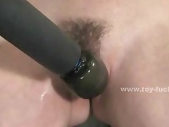 Blonde Slutty Babe Fucked By Double Fucking Machine In Toy..
