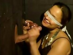 Blind Chick Gloryholes 2 Large Cocks