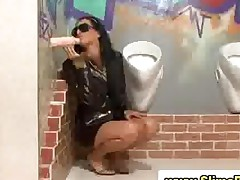 Glamorous Clothed Slut Gives Blow Job In Gloryhole