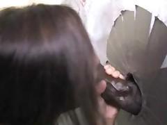 Beautiful Petite Brunette Teen Goes Black At A Dirty Gloryhole