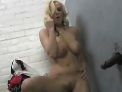 Haley Cummings At A Gloryhole