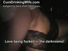 Cumslurping Amateur Wife At The Gloryhole
