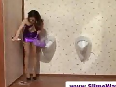 Massive Fake Cum Bath At A Gloryhole