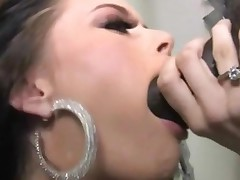 Pretty Faced Angelina Black Sucks And Fucks A Huge Black..