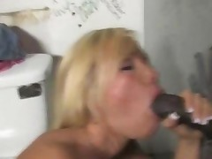 Busty Blonde Austin Taylor Meets A Black Dong At A Gloryhole