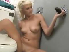 Molly Rae Works A Big Black Dick At A Gloryhole