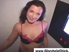 Amateur Sucking Cock At Gloryhole