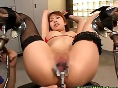 Bound Japanese Asian Speculum Play