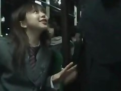 Handjob Right In Front Of Other Girl In Bus
