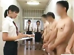 Cfnm Japanese Inmates Line Up For Daily Penis Inspection..