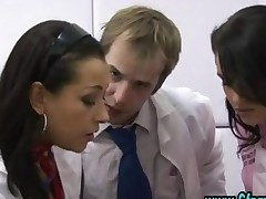 Cfnm Group British Nurses Give Handjob