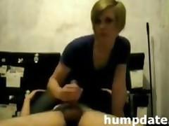 Face Sitting Girlfriend Gives Nice Handjob