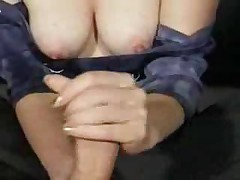 Mature Wife Handjob And Cumshot Compilation